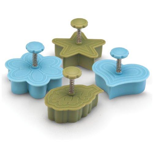 Paula Deen Signature Kitchen Tools 4-piece Pie Press Cutters Set, Heart, Star, Daisy And Leaf