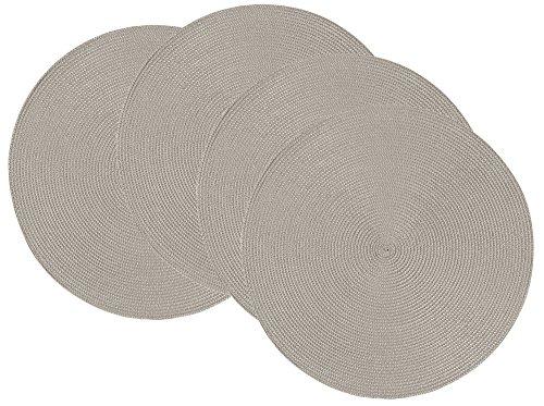 Now Designs Disko Round Placemats Set of Four Cobblestone Grey