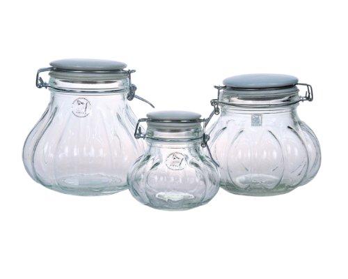 Amici Meloni Glass Storage Jars - Set of 3