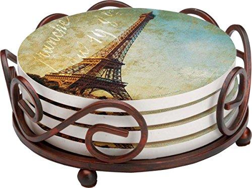 Thirstystone Stoneware Coaster Set Gift Set Golden Age of Paris