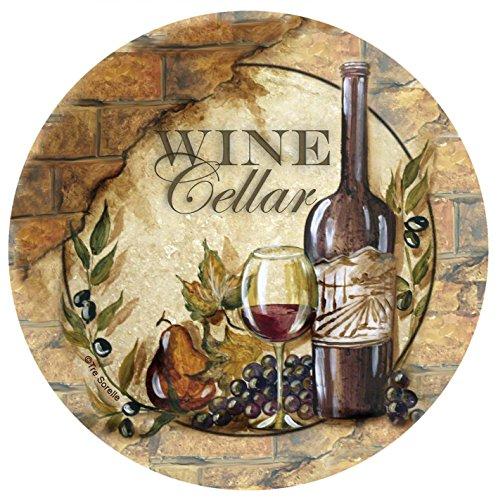 Thirstystone Stoneware Coaster Set Wine Cellar II