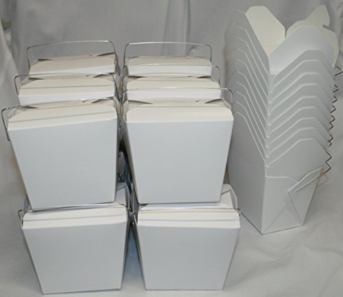 Chinese Take Out To go Food Boxes 16 oz 1 Pint Lot Of 50 - White - food container  450019