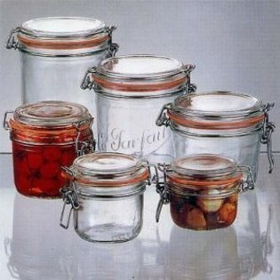 Le Parfait French Wide Mouth Glass Canning Jar with 70mm Gasket and Lid 7 Oz 200 Grams