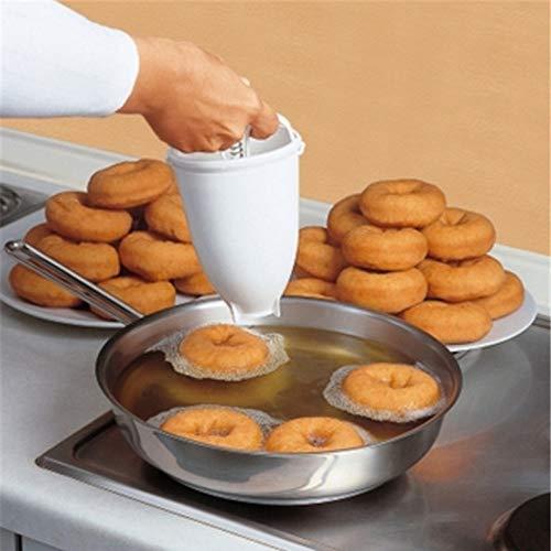 Clearance Tuscom Plastic Stainless Steel Donut Making ArtifactforTool Kitchen Pastry Making Bake Ware354X709 DIY Baking Tool White
