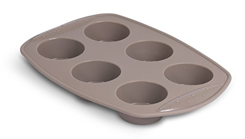 Internets Best Silicone Cake Mold  6 Cup  Cupcake Tray  Cake Baking Mold  BPA Free  Dishwasher Safe