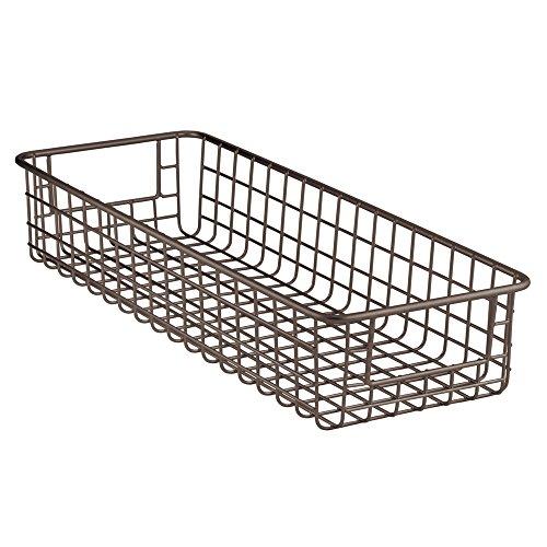 InterDesign Classico Wire Storage Basket for Kitchen Pantry Cabinet - Bronze