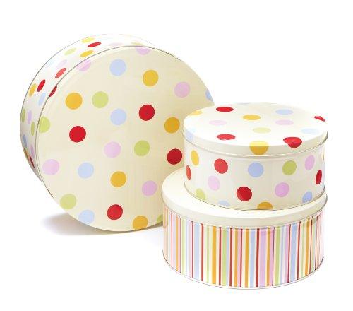 Cooksmart Cake Tins Set of 3 Spots