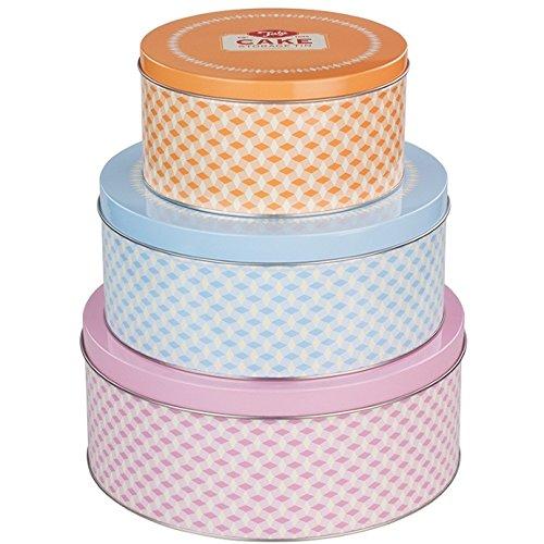 Tala 10B00341 Brights Cake Tins Set of 3 Mixed