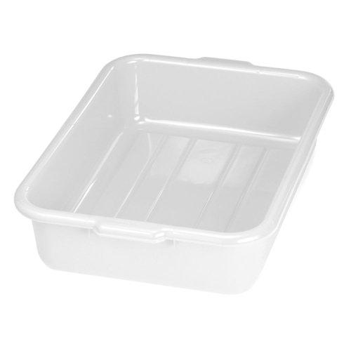 TableCraft 1529W White 5 Polyethylene Tote Box