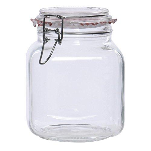 58 oz Glass Hermetic Jar - 5L x 5W x 7H