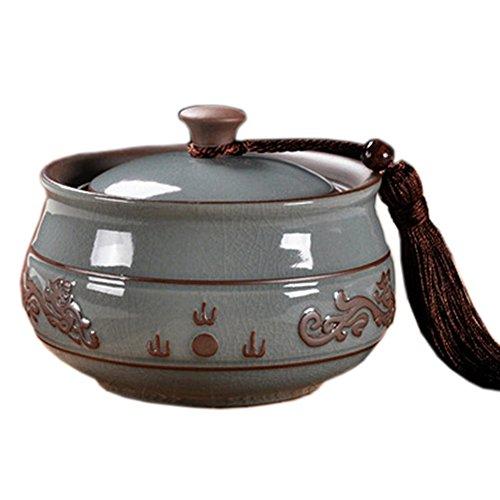 Chinese Tea CaddySnack Pot Tea Coffee Storage Jar Tea Container 700 ML