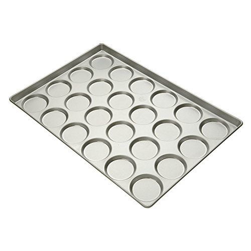Focus Foodservice Commercial Bakeware 24 Count 3-34-Inch Hamburger BunMuffin Top Pan