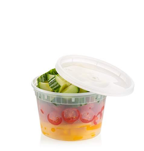 ZEML 16 oz Deli Food Storage Containers With Leak-proof Lids - 24 Sets