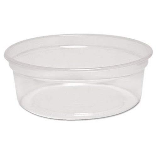 Solo MN8-0100 8 oz Translucent Polypro Plastic Deli Container Case of 500