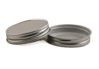 Nakpunar 12 pcs Silver Mason Jar Lids