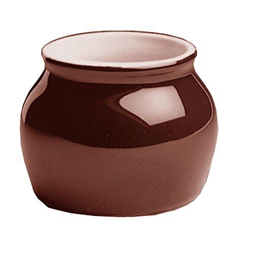 Hall China 461-BR Brown 7 Oz Boston Bean Pot wo Cover - 24  CS