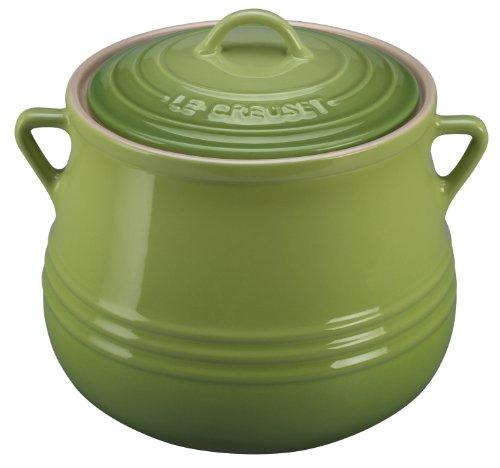 Le Creuset Heritage Stoneware Covered Bean Pot 4-12-Quart Palm