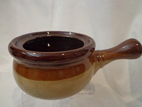 Retro Brown Soup Bowl Stoneware Onion Soup Bowl Bean Pot Stoneware Pot