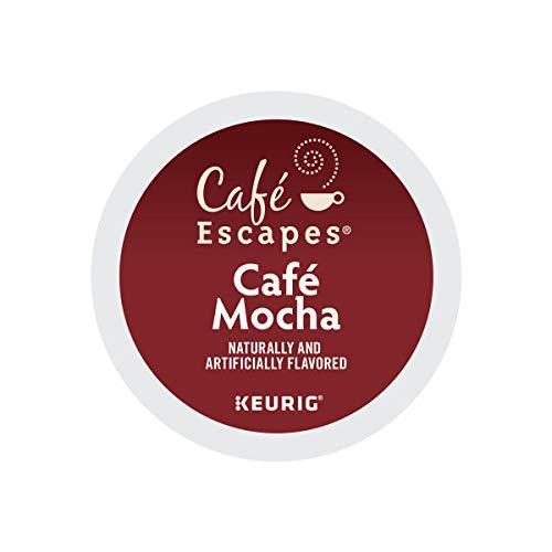 Cafe Escapes Cafe Mocha Coffee Beverage Single-Serve Keurig K-Cup Pods 48 Count 2 Boxes of 24 Pods