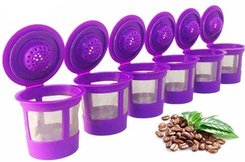6 Reusable Coffee Filters For Keurig 20 and 10 Brewers Fits K200 K300K350 K400K450K460 K500K550K560