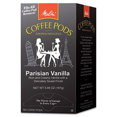 MLA75411 - Melitta Coffee Pods Parisian Vanilla Flavored Coffee 18-Count