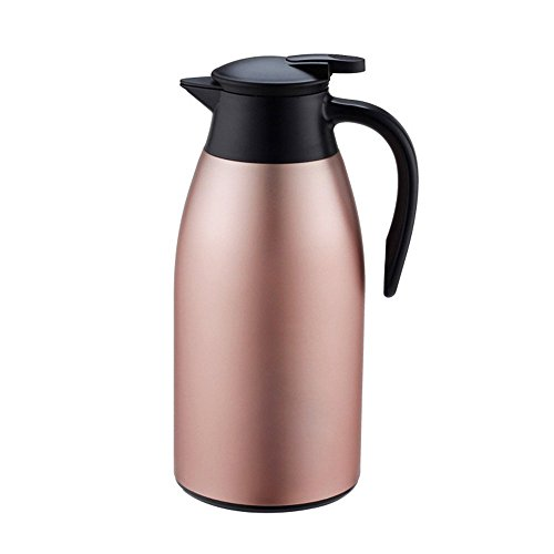 MEGOOD 21L71 ounce Double Wall Vacuum Hot and Cold Insulated Thermal CarafeStainless Steel Matte Water Bottle Kettle for WaterCoffeeTeaJuice and Other BeveragesMatte pink