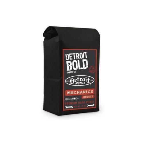 Detroit Muscle Mechanics Choice Coffee - Dark Roast - Ground - 32 Ounce Bag - 100 Arabica - Detroit Bold Coffee