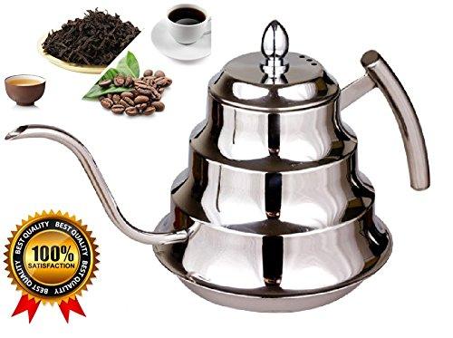 SPJ Stylish Stainless Steel 12L Coffee Drip Kettle Tea Pot