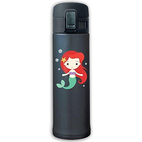 Anime Little Mermaid Stainless Steel Vacuum Mug Office Water Bottle Travel Thermal Flask Coffee Tea Cup Navy