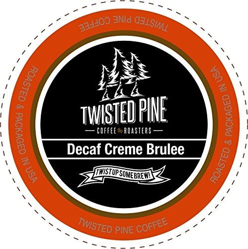 Twisted Pine Coffee Decaf Crème Brulee Flavored Decaf Coffee Single-Serve Cups for Keurig K-Cup Brewers 12 Count
