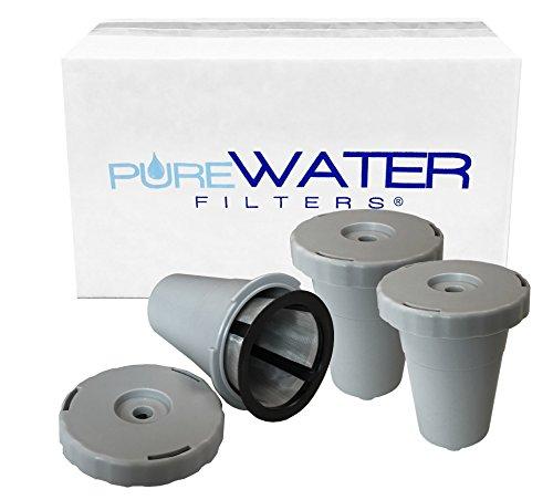 Keurig My K-cup Single Reusable Coffee Filter for Keurigs B40 B45 B50 B55 B60 B65 K40 K45 K50 K55 K60 K65 B70 B71 B76 B77 B79 K70 K75 K77 K79 - 3 Pack by PureWater Filters
