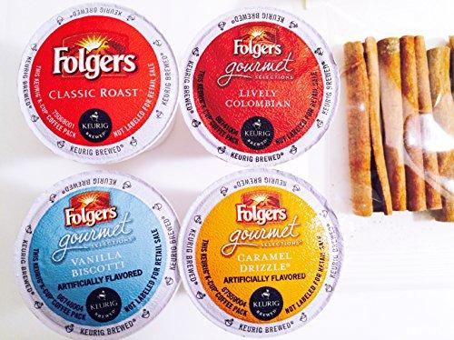 Folgers 12-count K-Cup Variety Sampler Pack Single-Serve Cups for Keurig Brewers Plus a Bonus Package of Cinnamon Sticks