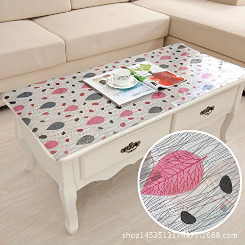 MH-RITA The Frosted Crystal Board Floppy Glass Coffee Table Mounts Plastic Tablecloth J 80140Cm Table Mats