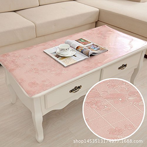 MH-RITA The Frosted Crystal Board Floppy Glass Coffee Table Mounts Plastic Tablecloth L 60100Cm Table Mats