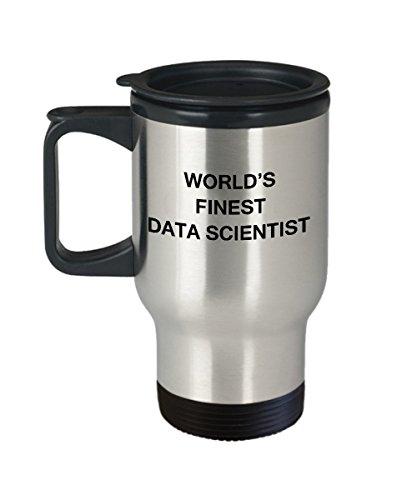 Worlds Finest Data Scientist - Porcelain Travel Coffee Mug 14 OZ Funny Mugs