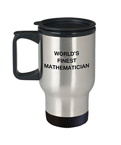 Worlds Finest Mathematician - Porcelain Travel Coffee Mug 14 OZ Funny Mugs