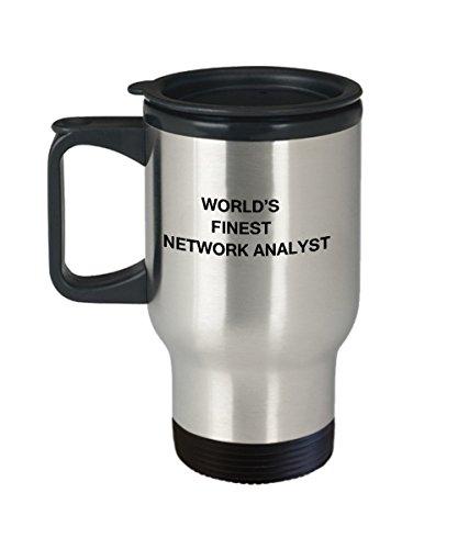 Worlds Finest Network Analyst - Porcelain Travel Coffee Mug 14 OZ Funny Mugs