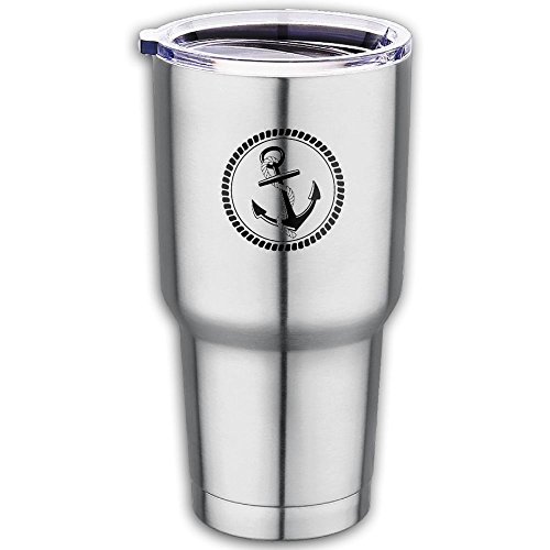 Anchor Nautical Sea 30oz Tumbler Vacuum Insulated Stainless Steel Coffee Cup With Lid