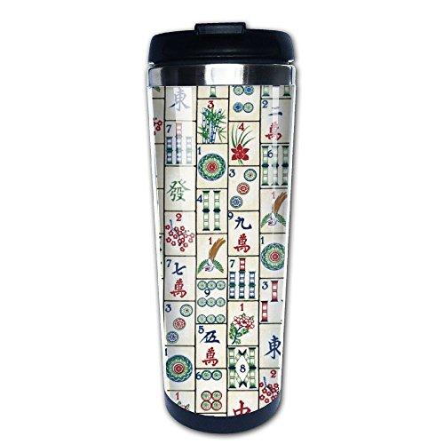 Mahjong Tiles Stainless Travel Coffee Mug