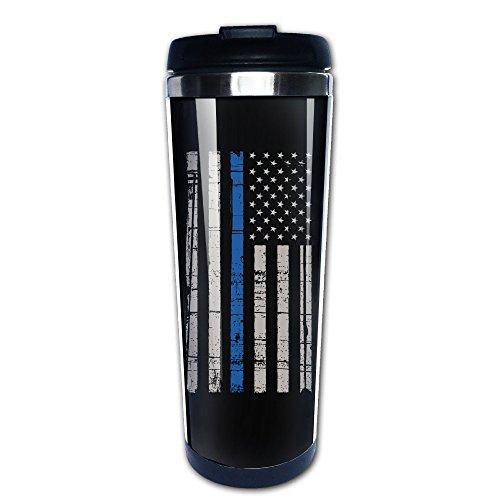 Thin Blue Line American Flag Stainless Travel Coffee Mug