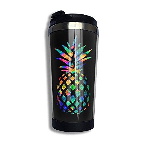 Watercolor Pineapple Stainless Steel Vacuum Travel Coffee Mug Tumblers 136 Oz Coffee Cup Flask
