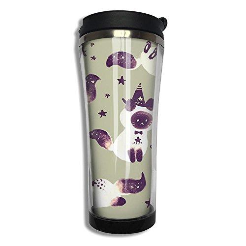 Happy Halloween Insulated Travel Mug - Leak Proof Coffee Tumbler - Stainless Steel Vacuum Flask - 420ml