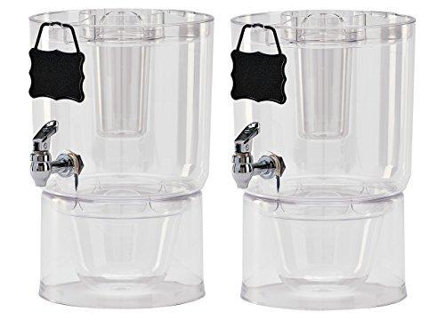 Buddeez Cold Beverage Dispensers Set of 2 175 gallon Clear by Buddeez