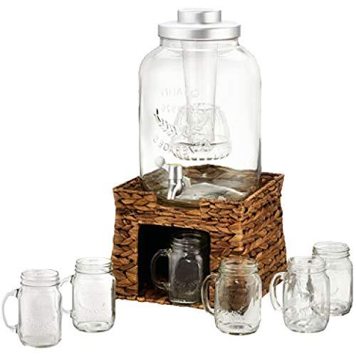 OKSLO 10403s garden terrace beverage dispenser set Model 7542-13439-7069-9074