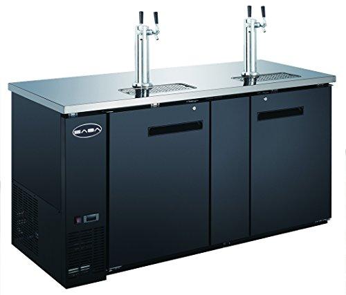 SABA 69 Two Door Draft Beer Dispenser with 2 Tap Towers