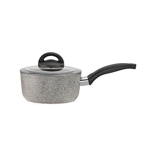 Ballarini 75001-650 Parma Forged Aluminum Nonstick Saucepan with Lid 15-quart Granite