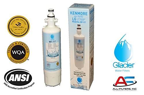 LG Refrigerator Water Filter Replacement - Fits LG Refrigerator Filter for LT700P ADQ36006101 Kenmore 46-9690 - Compatible with LG Water Filter LT700P for Refrigerator 1