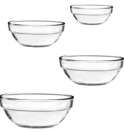 4 Pc Nesting Bowl Set 1 qt9L  15 qt14L  25 qt24L 35 qt32L Bowls