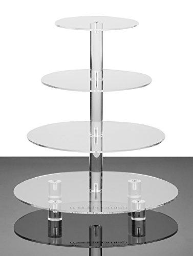 weddingwish 4-Tier Round Acrylic Cupcake Stand with BASE 1 4 tier Round with BASE … …