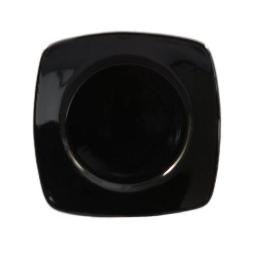 CAC China R-SQ21 BLACK Stoneware Round-in-Square Plate 11-78-Inch Black Box of 12